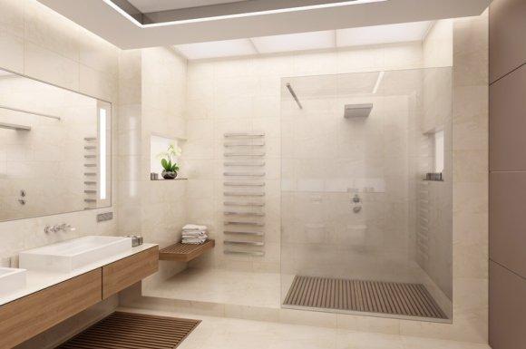 Transformation d'une baignoire classique en douche à l'italienne moderne La Rochelle